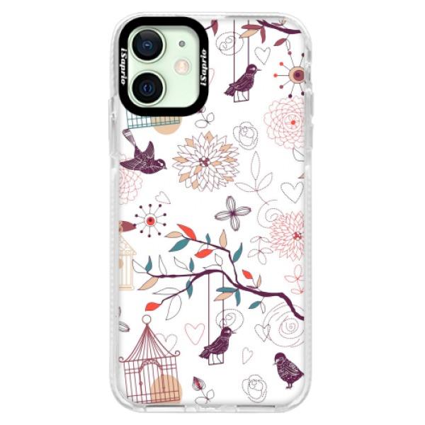 Silikonové pouzdro Bumper iSaprio - Birds - iPhone 12