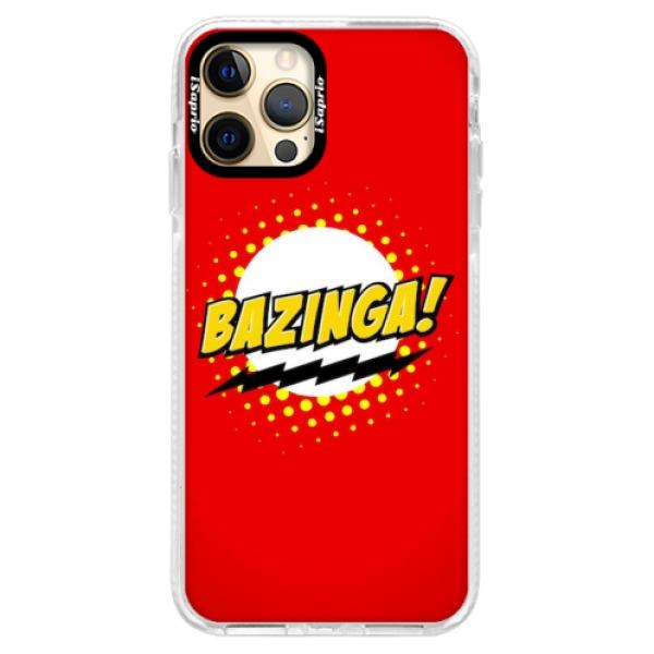 Silikonové pouzdro Bumper iSaprio - Bazinga 01 - iPhone 12 Pro