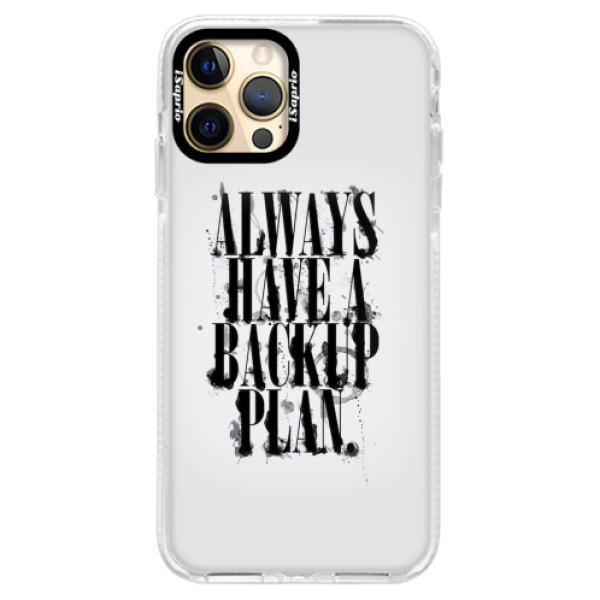 Silikonové pouzdro Bumper iSaprio - Backup Plan - iPhone 12 Pro