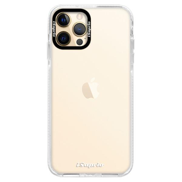 Silikonové pouzdro Bumper iSaprio - 4Pure - mléčný bez potisku - iPhone 12 Pro