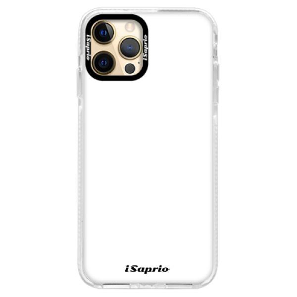 Silikonové pouzdro Bumper iSaprio - 4Pure - bílý - iPhone 12 Pro