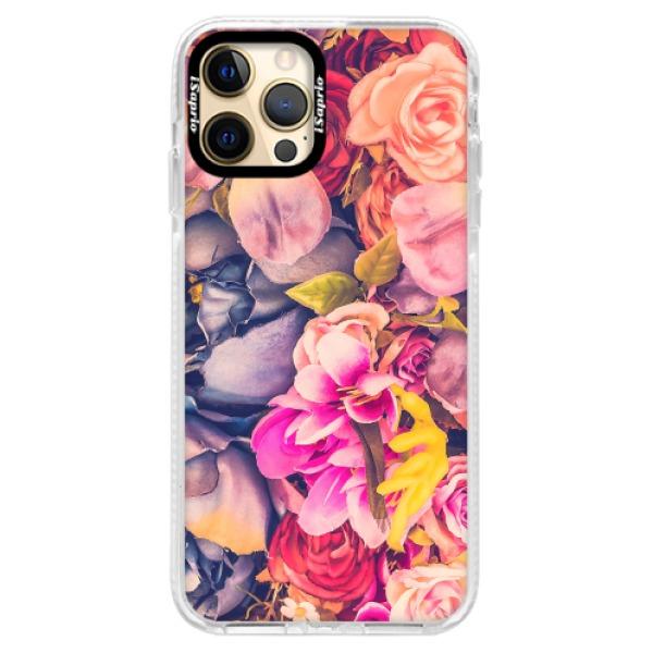 Silikonové pouzdro Bumper iSaprio - Beauty Flowers - iPhone 12 Pro
