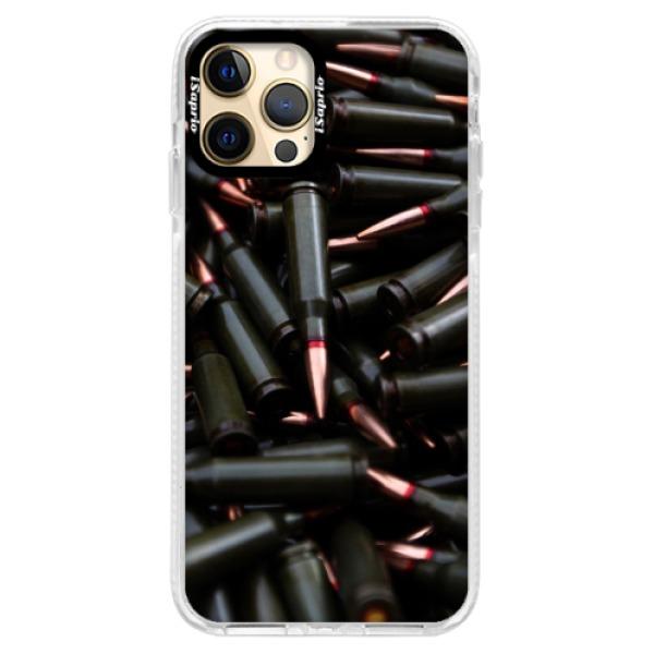 Silikonové pouzdro Bumper iSaprio - Black Bullet - iPhone 12 Pro