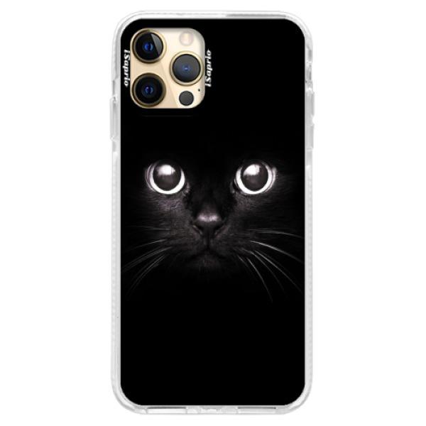 Silikonové pouzdro Bumper iSaprio - Black Cat - iPhone 12 Pro