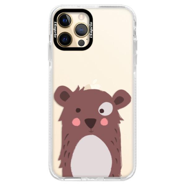 Silikonové pouzdro Bumper iSaprio - Brown Bear - iPhone 12 Pro