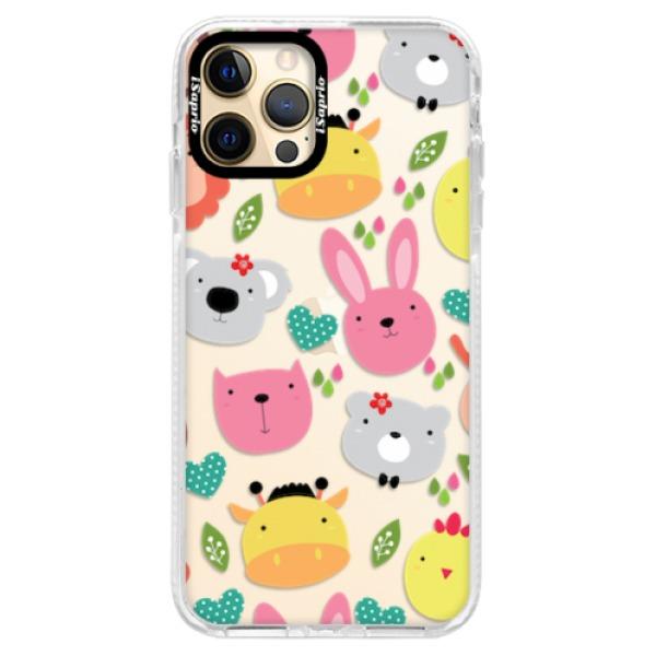 Silikonové pouzdro Bumper iSaprio - Animals 01 - iPhone 12 Pro