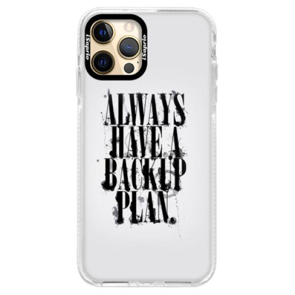 Silikonové pouzdro Bumper iSaprio - Backup Plan - iPhone 12 Pro Max