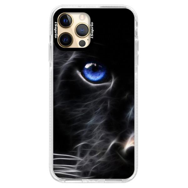 Silikonové pouzdro Bumper iSaprio - Black Puma - iPhone 12 Pro Max