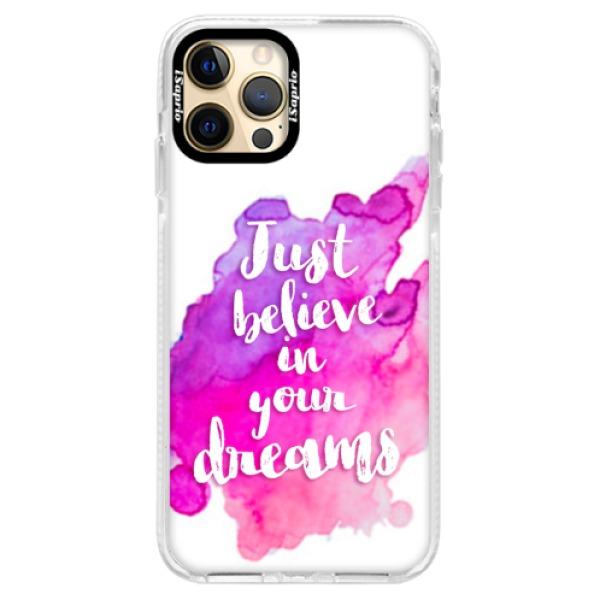 Silikonové pouzdro Bumper iSaprio - Believe - iPhone 12 Pro Max