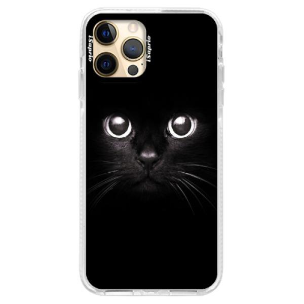 Silikonové pouzdro Bumper iSaprio - Black Cat - iPhone 12 Pro Max