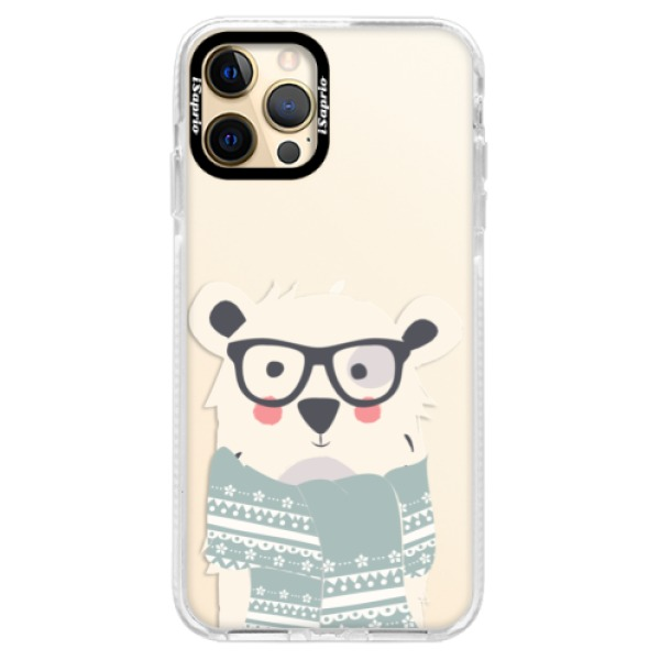 Silikonové pouzdro Bumper iSaprio - Bear with Scarf - iPhone 12 Pro Max