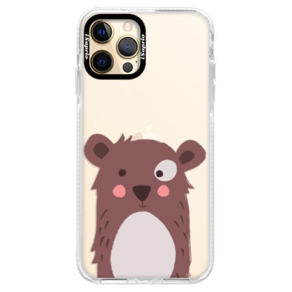 Silikonové pouzdro Bumper iSaprio - Brown Bear - iPhone 12 Pro Max