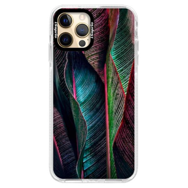 Silikonové pouzdro Bumper iSaprio - Black Leaves - iPhone 12 Pro Max