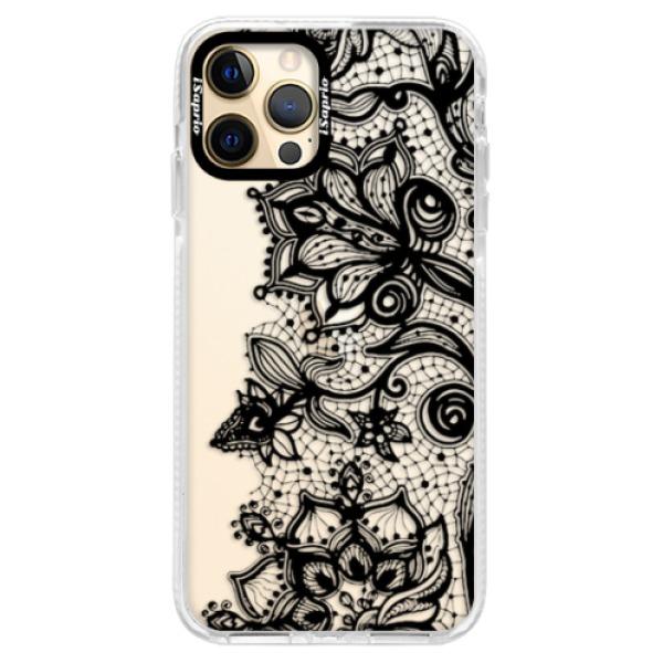 Silikonové pouzdro Bumper iSaprio - Black Lace - iPhone 12 Pro Max