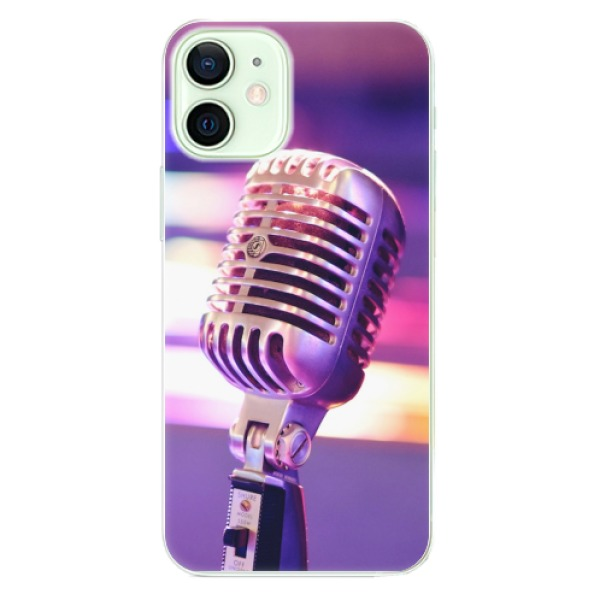 Odolné silikonové pouzdro iSaprio - Vintage Microphone - iPhone 12 mini