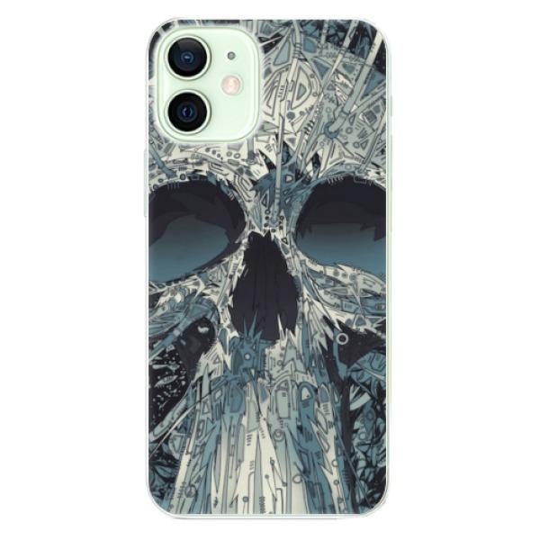 Odolné silikonové pouzdro iSaprio - Abstract Skull - iPhone 12 mini