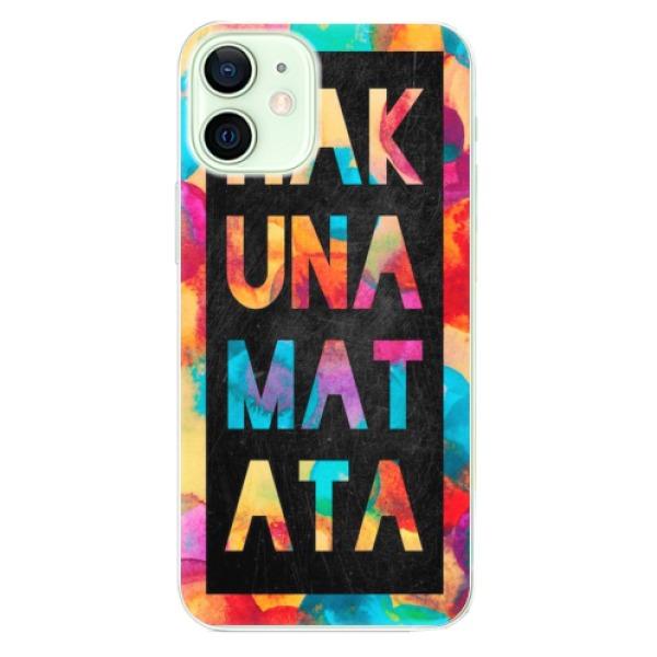 Odolné silikonové pouzdro iSaprio - Hakuna Matata 01 - iPhone 12 mini