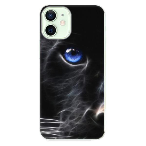 Odolné silikonové pouzdro iSaprio - Black Puma - iPhone 12 mini