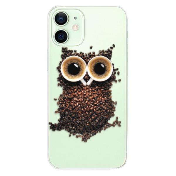 Odolné silikonové pouzdro iSaprio - Owl And Coffee - iPhone 12 mini