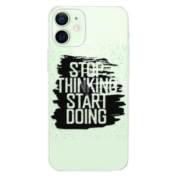 Odolné silikonové pouzdro iSaprio - Start Doing - black - iPhone 12 mini