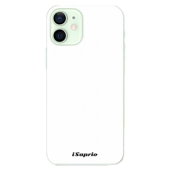 Odolné silikonové pouzdro iSaprio - 4Pure - bílý - iPhone 12 mini