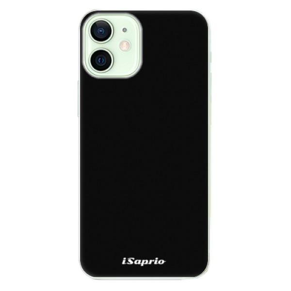 Odolné silikonové pouzdro iSaprio - 4Pure - černý - iPhone 12 mini