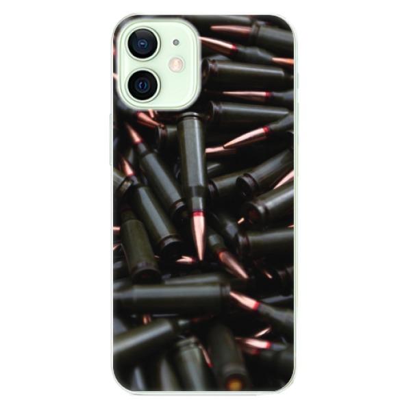Odolné silikonové pouzdro iSaprio - Black Bullet - iPhone 12 mini