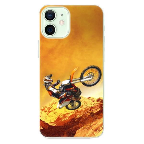 Odolné silikonové pouzdro iSaprio - Motocross - iPhone 12 mini