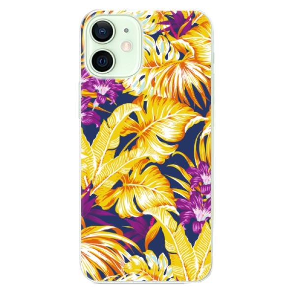 Odolné silikonové pouzdro iSaprio - Tropical Orange 04 - iPhone 12 mini