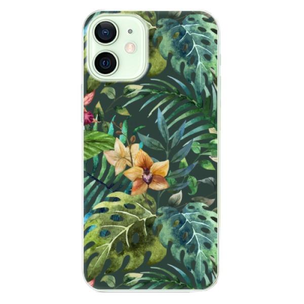 Odolné silikonové pouzdro iSaprio - Tropical Green 02 - iPhone 12 mini