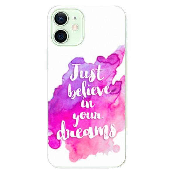 Odolné silikonové pouzdro iSaprio - Believe - iPhone 12 mini