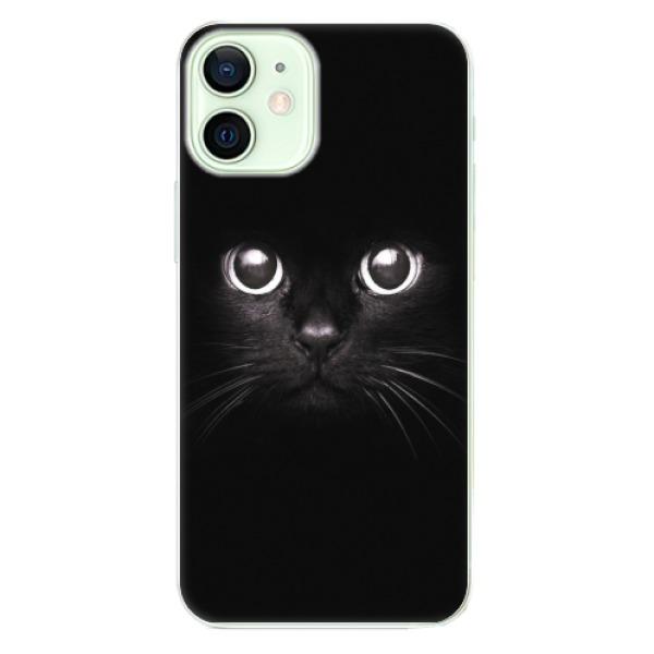 Odolné silikonové pouzdro iSaprio - Black Cat - iPhone 12 mini