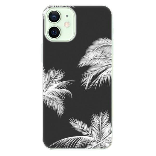 Odolné silikonové pouzdro iSaprio - White Palm - iPhone 12 mini