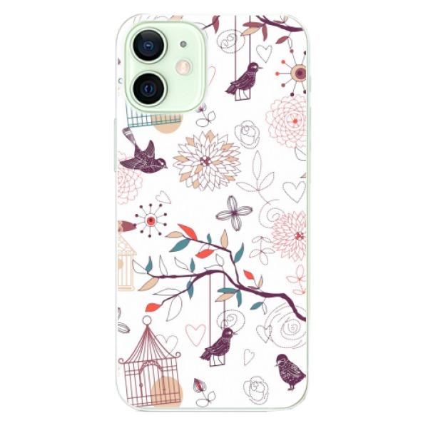 Odolné silikonové pouzdro iSaprio - Birds - iPhone 12 mini