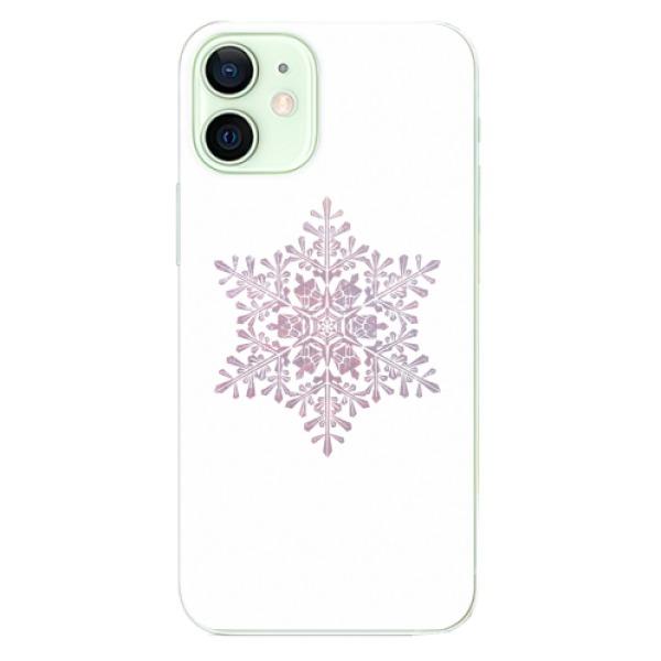 Odolné silikonové pouzdro iSaprio - Snow Flake - iPhone 12 mini