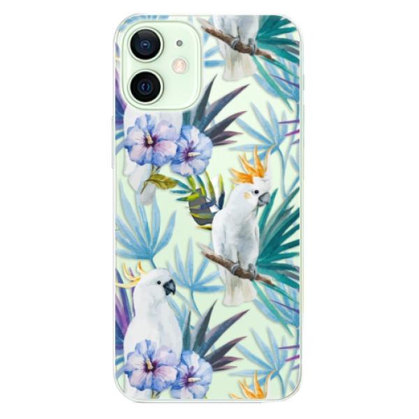 Odolné silikonové pouzdro iSaprio - Parrot Pattern 01 - iPhone 12 mini