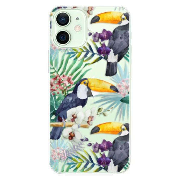 Odolné silikonové pouzdro iSaprio - Tucan Pattern 01 - iPhone 12 mini
