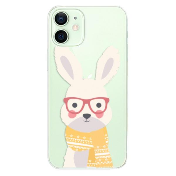 Odolné silikonové pouzdro iSaprio - Smart Rabbit - iPhone 12 mini