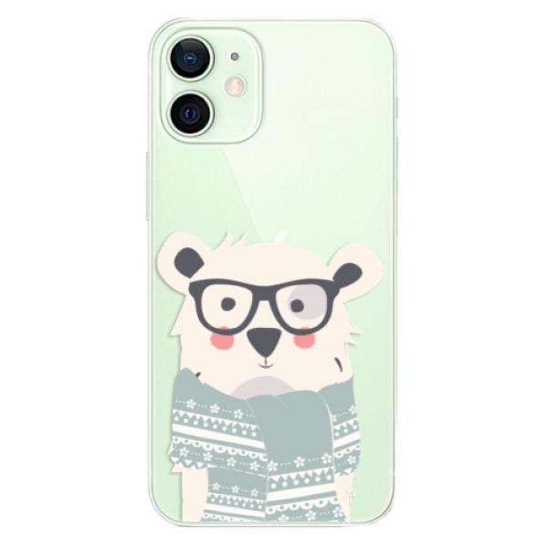 Odolné silikonové pouzdro iSaprio - Bear with Scarf - iPhone 12 mini