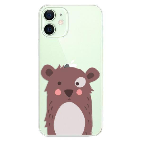 Odolné silikonové pouzdro iSaprio - Brown Bear - iPhone 12 mini