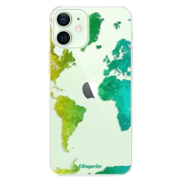 Odolné silikonové pouzdro iSaprio - Cold Map - iPhone 12 mini