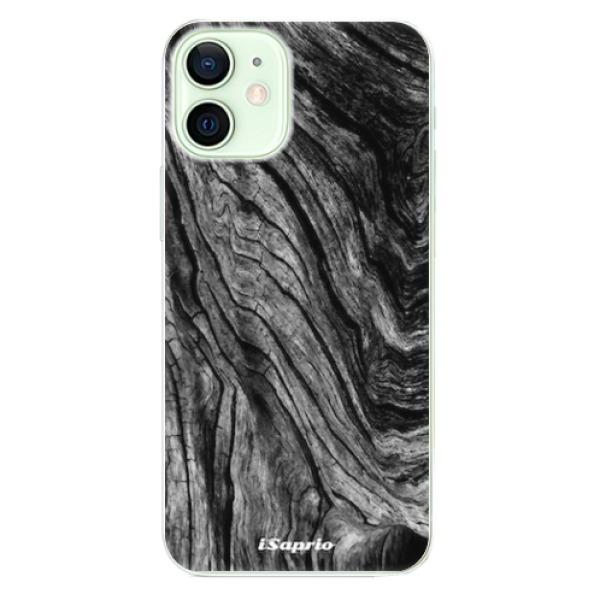 Odolné silikonové pouzdro iSaprio - Burned Wood - iPhone 12 mini