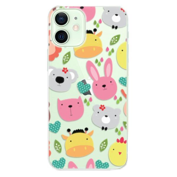 Odolné silikonové pouzdro iSaprio - Animals 01 - iPhone 12 mini