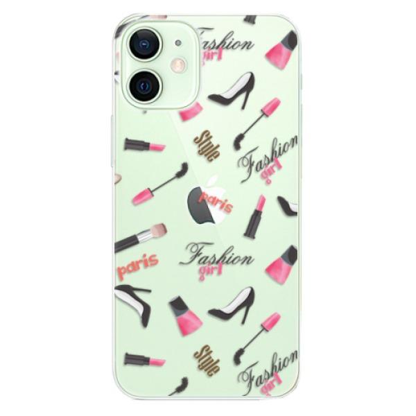 Odolné silikonové pouzdro iSaprio - Fashion pattern 01 - iPhone 12 mini
