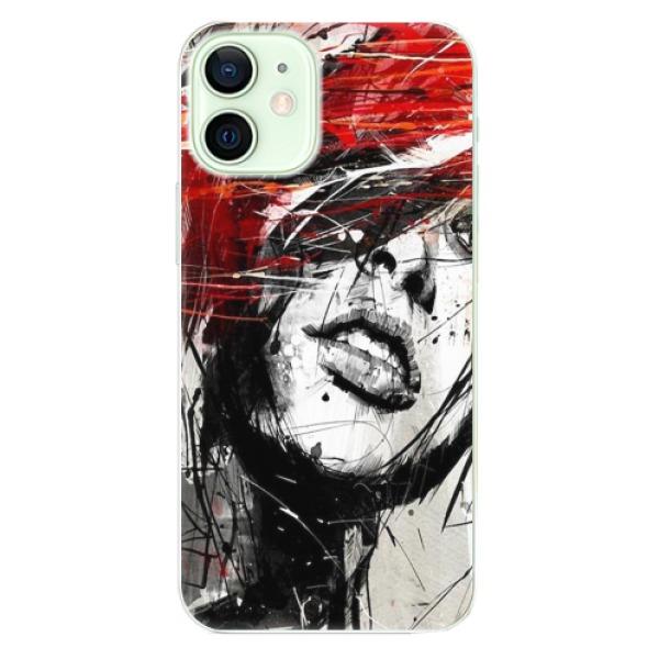Odolné silikonové pouzdro iSaprio - Sketch Face - iPhone 12