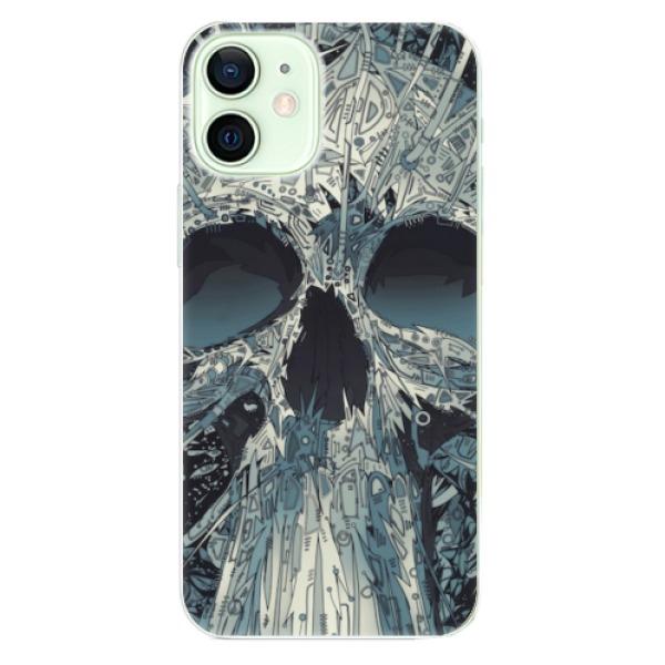 Odolné silikonové pouzdro iSaprio - Abstract Skull - iPhone 12