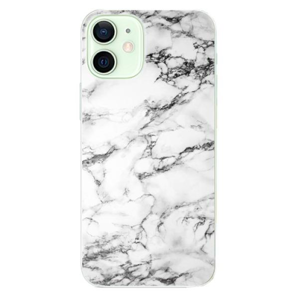 Odolné silikonové pouzdro iSaprio - White Marble 01 - iPhone 12