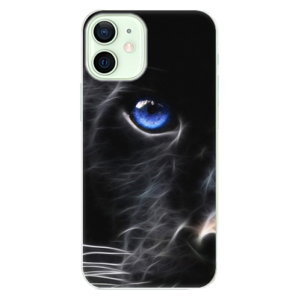 Odolné silikonové pouzdro iSaprio - Black Puma - iPhone 12