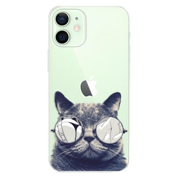 Odolné silikonové pouzdro iSaprio - Crazy Cat 01 - iPhone 12