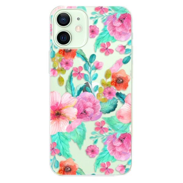 Odolné silikonové pouzdro iSaprio - Flower Pattern 01 - iPhone 12